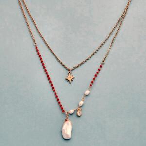 Collar mini cuentas piedras naturales